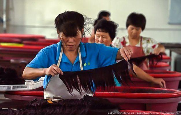 Как в Китае делают парики