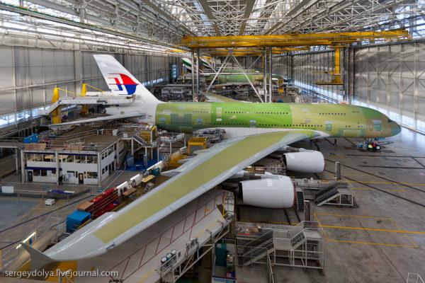 Как строят самолеты А380