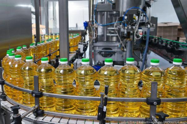 Как производят подсолнечное масло