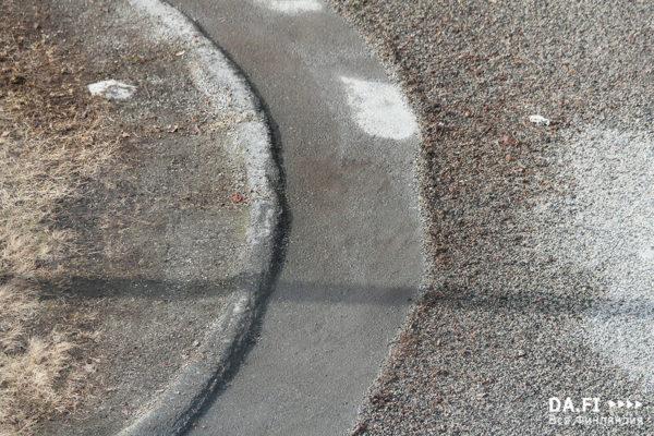Как убирают гранитную крошку в Финляндии