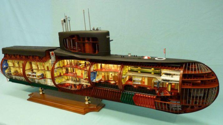 Модель Подводной Лодки 667-А «Навага»