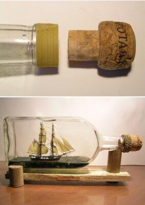 Как сделать корабль в бутылке. Часть 2