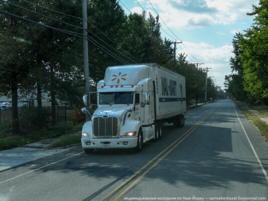 Путешествие в Нью-Джерси в кабине большого американского грузовика