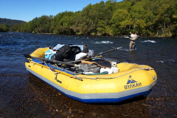 Как проводится рыбалка со сплавом на р. Опала, Камчатка
